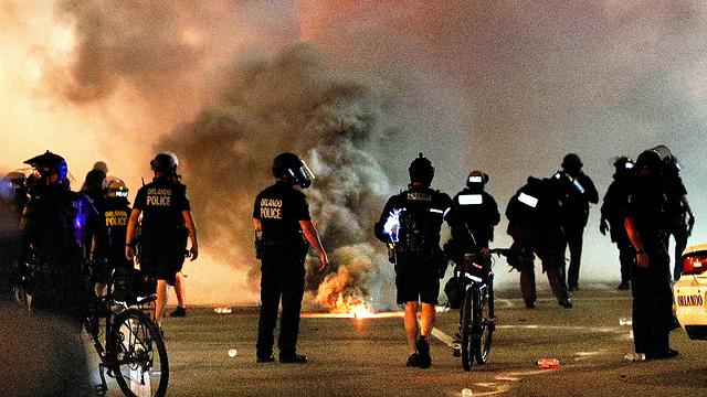 מהומות באורלנדו (צילום: MCT)