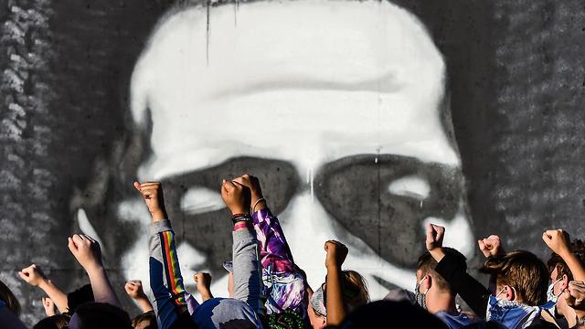 טקס האשכבה של ג'ורג' פלויד  (צילום: AFP)