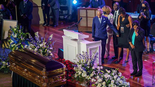 טקס אשכבה ג'ורג' פלויד (צילום: AFP)