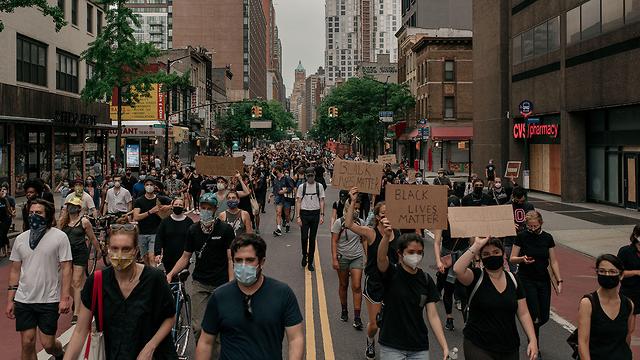 מחאה ומעצרים בניו יורק (צילום: gettyimages)