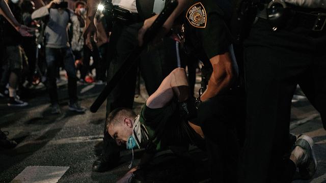 מחאה ומעצרים בניו יורק (צילום: AFP)