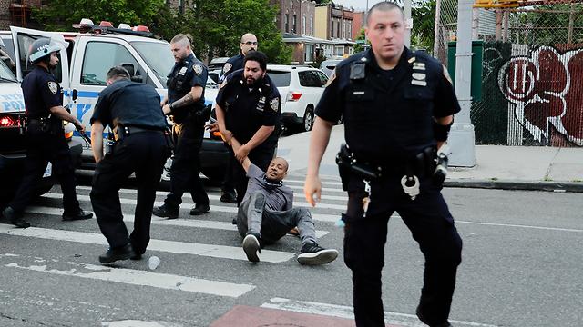 מחאה ומעצרים בניו יורק (צילום: AP)