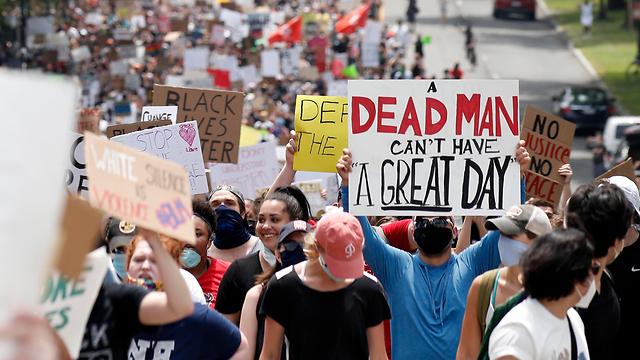 ג'ורג' פלויד הפגנה וושינגטון ארה