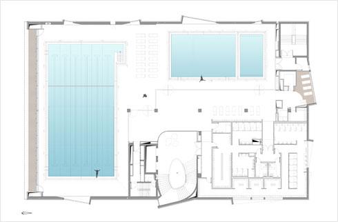 קומת הבריכות (תוכנית: מייזליץ כסיף אדריכלים)