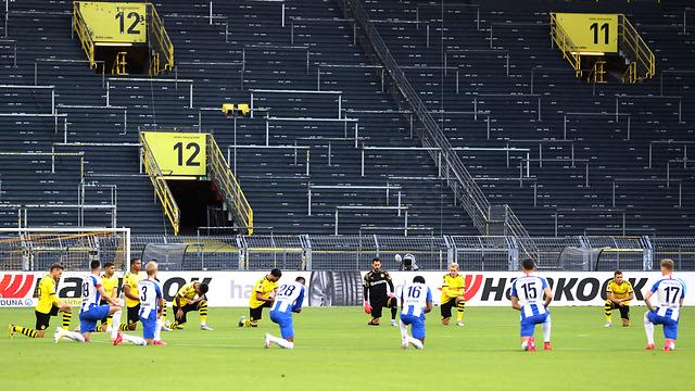 גרמניה יציעים יציע כדורגל ריקים נגיף קורונה הקורונה (צילום: MCT)