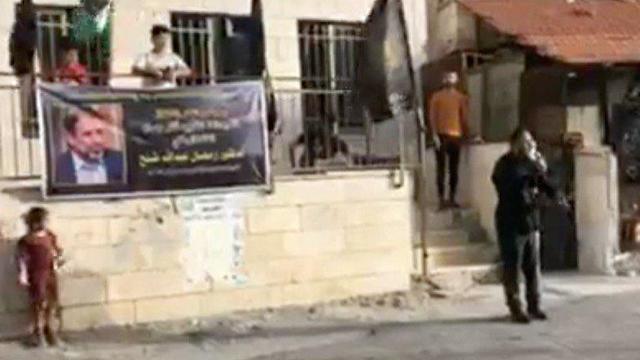 סוכת אבלים לרמדאן שלח מנהיג ה'יהאד האיסלאמי ()