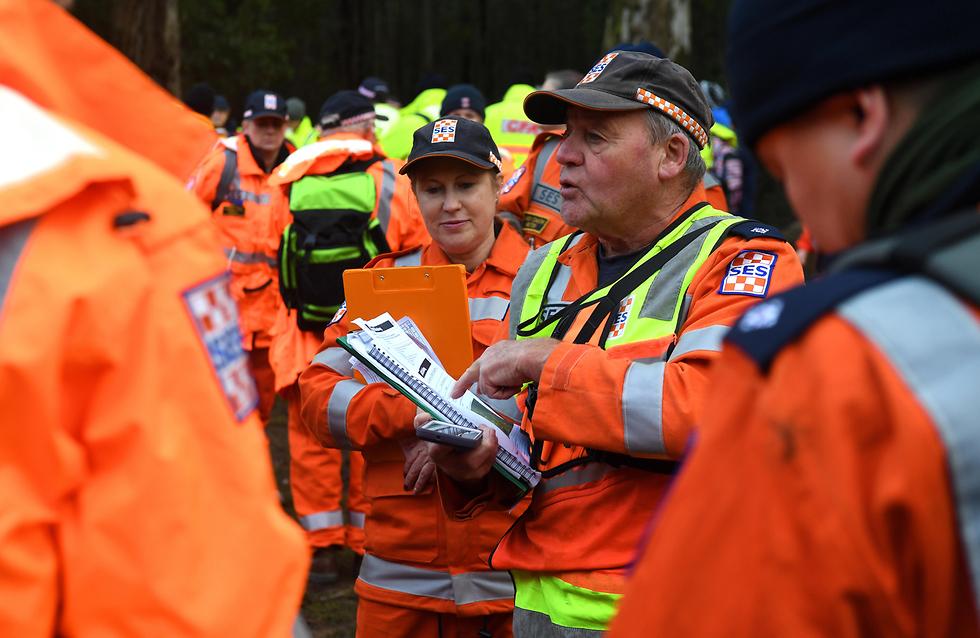 חיפושים אחר וויליאם קלהאן נער בן 14 אוטיסט שנעלם בהר דיספוינטמנט ב אוסטרליה  (צילום: EPA)