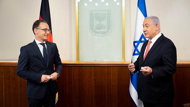 בנימין נתניהו פגישה עם שר החוץ של גרמניה הייקו מאס (צילום: EPA)