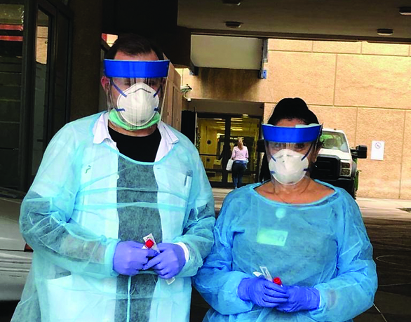 היערכות לבדיקות קורונה ( המרכז הרפואי לשיקום - לוינשטיין )