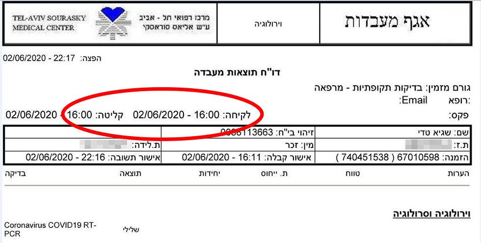 הבדיקה שעשה טדי שגיא בישראל ()