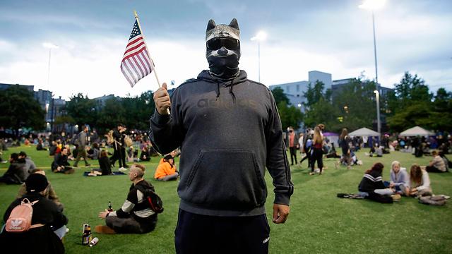 מפגינים ב סיאטל ארה