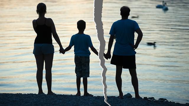 גרושים עם ילד (צילום: Shutterstock)