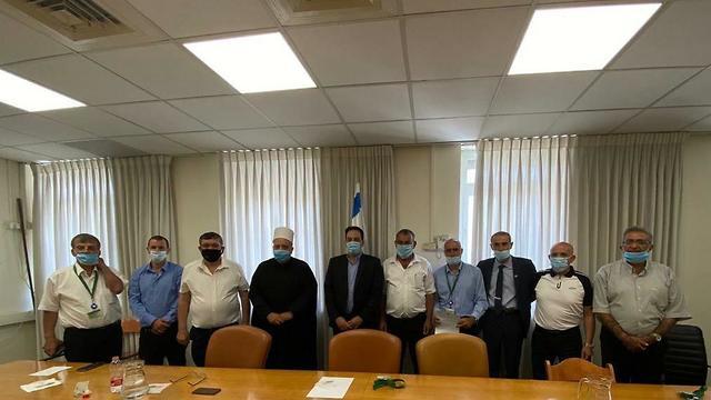 פגישה של ראשי הרשויות בנושא : הקפאת המחאה של הרשויות הדרוזיות והצ'רקסיות ()