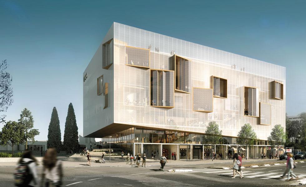 מייזליץ-כסיף מבקשים ''שבית הספר לאדריכלות לא יהיה מגדל שן'', בניסיון למקסם את האינטראקציה בין המבנה למה שסובב אותו. חזית של רשת אלומיניום לבנה תחשוף החוצה את המתרחש בין כותלי בית הספר