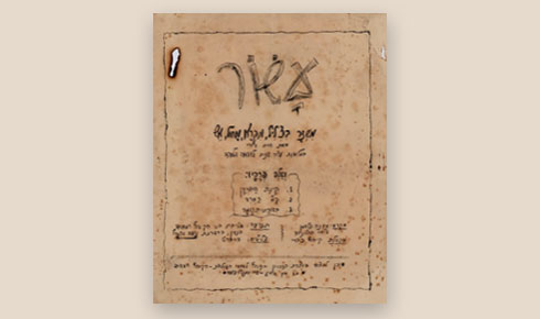 תוכנית העצרת ב-1953 (באדיבות הקרן ע״ש נועה אשכול לכתב תנועה)