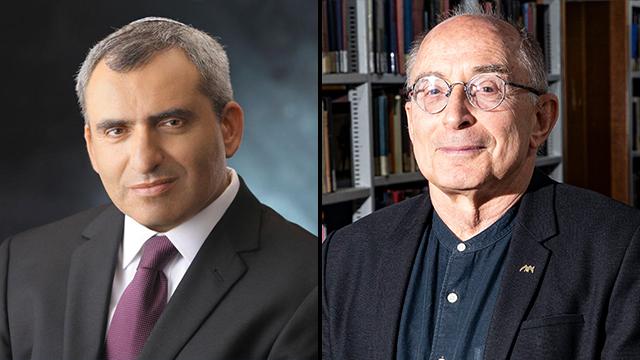 רון רובין וזאב אלקין (צילום: גיל נחושתן)