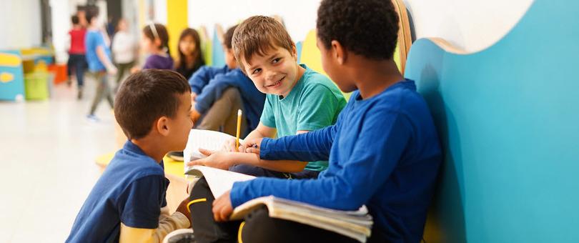 חללי למידה פתוחים בבית הספר רונה רמון בחריש (צילום: דניאל שרון)