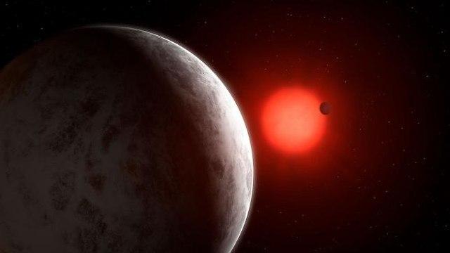 הדמיה של הכוכב וכוכבי הלכת שלו (הדמיה: University of Göttingen)