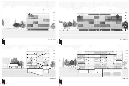 מתוך ההצעה הזוכה (ציונוב-ויתקון אדריכלים)