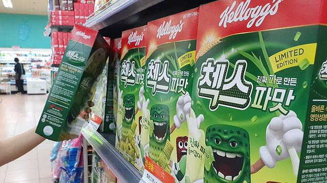 דרום קוריאה דגני בוקר בטעם בצל ירוק (צילום: רויטרס)
