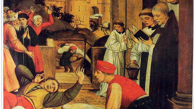 איור המתאר את המגפה (צילום: מתוך ויקיפדיה)
