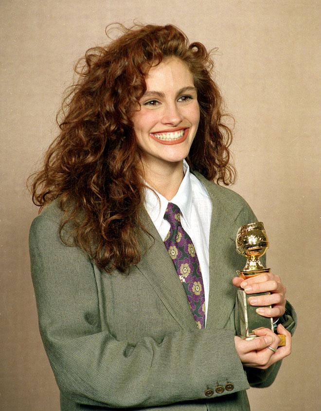 החיוך, התלתלים ופרס גלובוס הזהב. 1990 (צילום: AP)