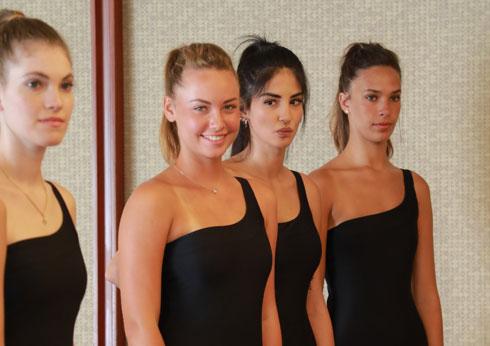 בגדי הים של Studio 358. מימין: תהילה לוי, איילר בבייב, טלי קרסנופולסקי, לירן רובין  (צילום: דנה קופל)