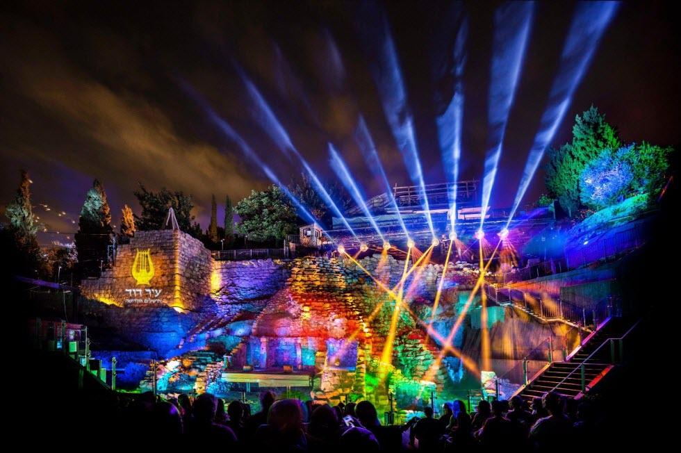 החיזיון האור קולי בעיר דוד  (צילום: קובי הראתי)