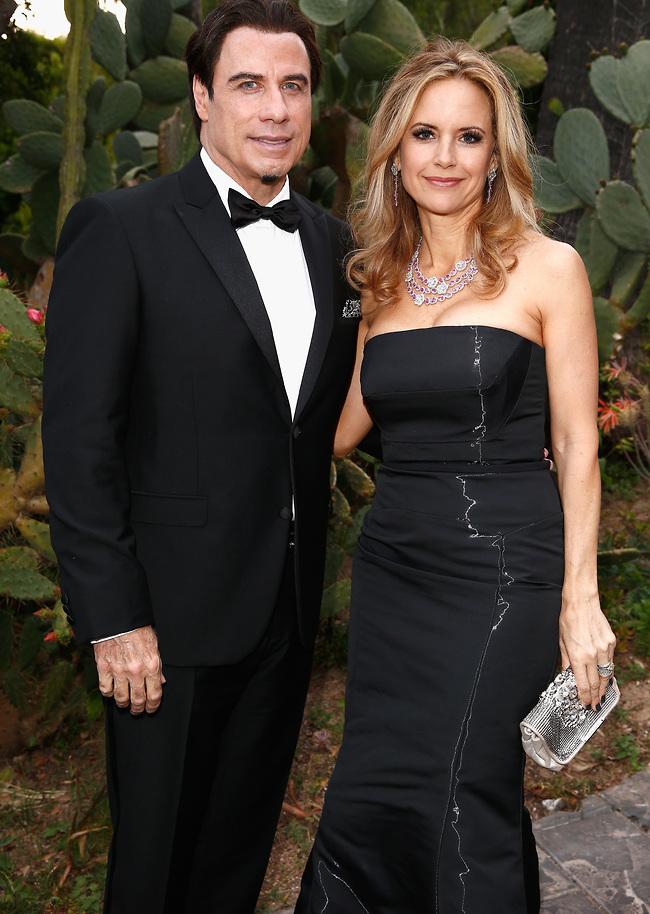 ג'ון טרבולטה ואשתו קלי פרסטון (צילום: GettyImages)