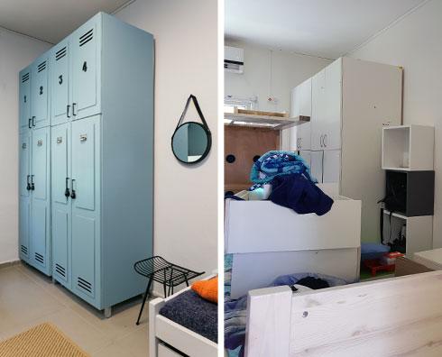 לפני ואחרי. מארון משעמם ללוקר מרהיב (צילום: נויה שילוני חביב)