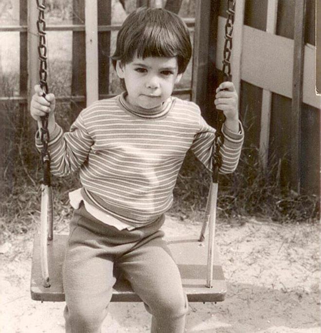 """תמונת ילדות. """"מגיל צעיר ידעתי שאם אני רוצה משהו, אצטרך לעבוד בשבילו"""" (צילום: אלבום פרטי)"""