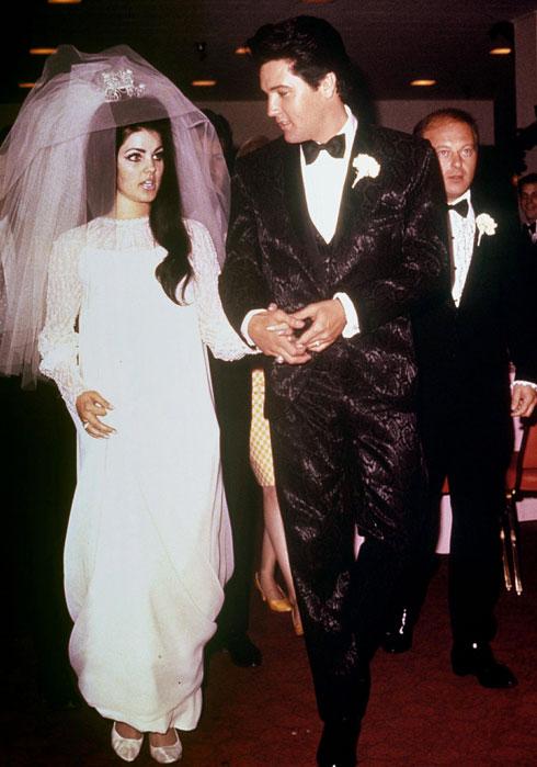 היחידה שהתחתנה עם המלך. פריסיליה ואלביס פרסלי (צילום: rex/asap creative)