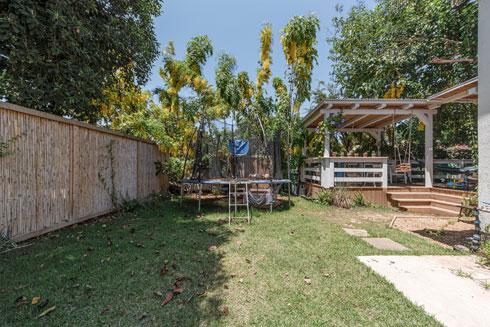 גדר הבמבוק והצמחייה מספקים פרטיות יחסית בשכונה צפופה (צילום: קרין רבנה)