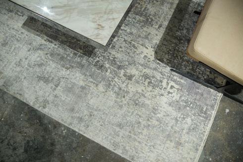 וגם את השטיח עיצב: הוא צייר את הדוגמה, סרק את הציור ושלח אותו ל-Rugs&Co, חברה שמתמחה באריגה לפי הזמנה (צילום: רותם לבל)