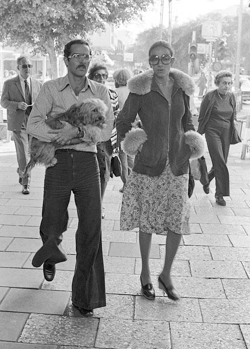 רינה וחיים בן צבי בחורף 1975 (צילום: יעל רוזן)