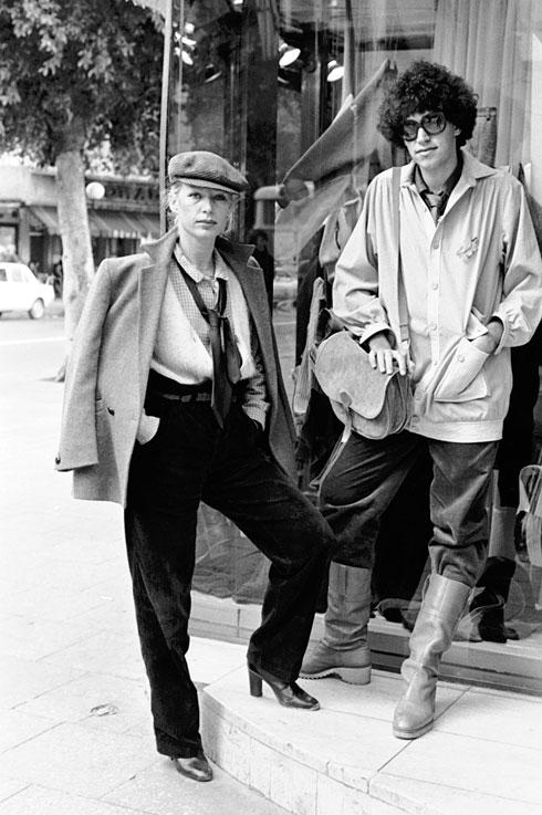 חנה שוורץ ואבי טנצר באופנת רחוב בשנות ה-70 (צילום: יעל רוזן)