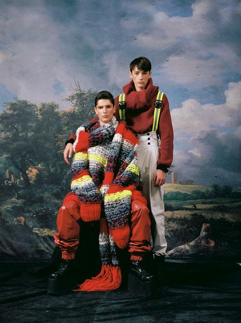 פרויקט הגמר של אוטיץ בשנקר, שהתמקד בלבוש גברי (צילום: שלו אריאל)