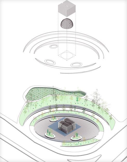 בהשראת הכיפות של האדריכלות העתיקה ברמלה (הדמיה: FONMA ONIVA)