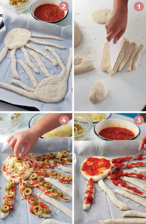 הכנת פיצה מדוזה (צילום: נעמה רן)