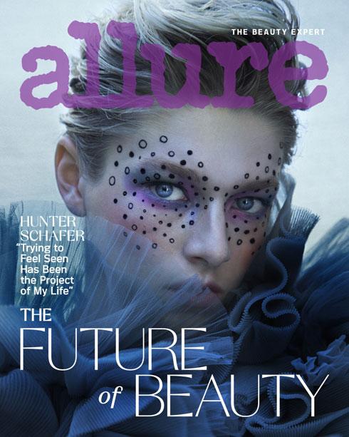 עתיד היופי. האנטר שייפר על שער Allure (צילום: Daniella Midenge)