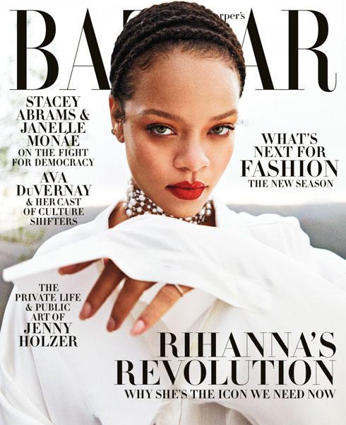 כל מדינה בחרה בתמונות משלה, אך כולן של ריהאנה. הרפר'ס בזאר (צילום: Gray Sorrenti)
