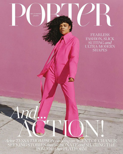 העתיד ורוד? טסה תומפסון על שער מגזין פורטר (צילום: Shaniqwa Jarvis)