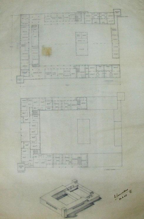 מתוך תיק התיעוד של המבנה (תוכנית: נאור מימר אדריכלות ושימור בעמ)