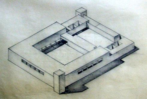 פרספקטיבה מוקדמת של התחנה שיצרו הבריטים. בסופו של דבר הם הפכו את מיקום המגדלים לשתי הפינות הנגדיות של המבנה. רוב המצודות משמשות עד היום את כוחות הביטחון - הישראליים (תוכנית: נאור מימר אדריכלות ושימור בעמ)