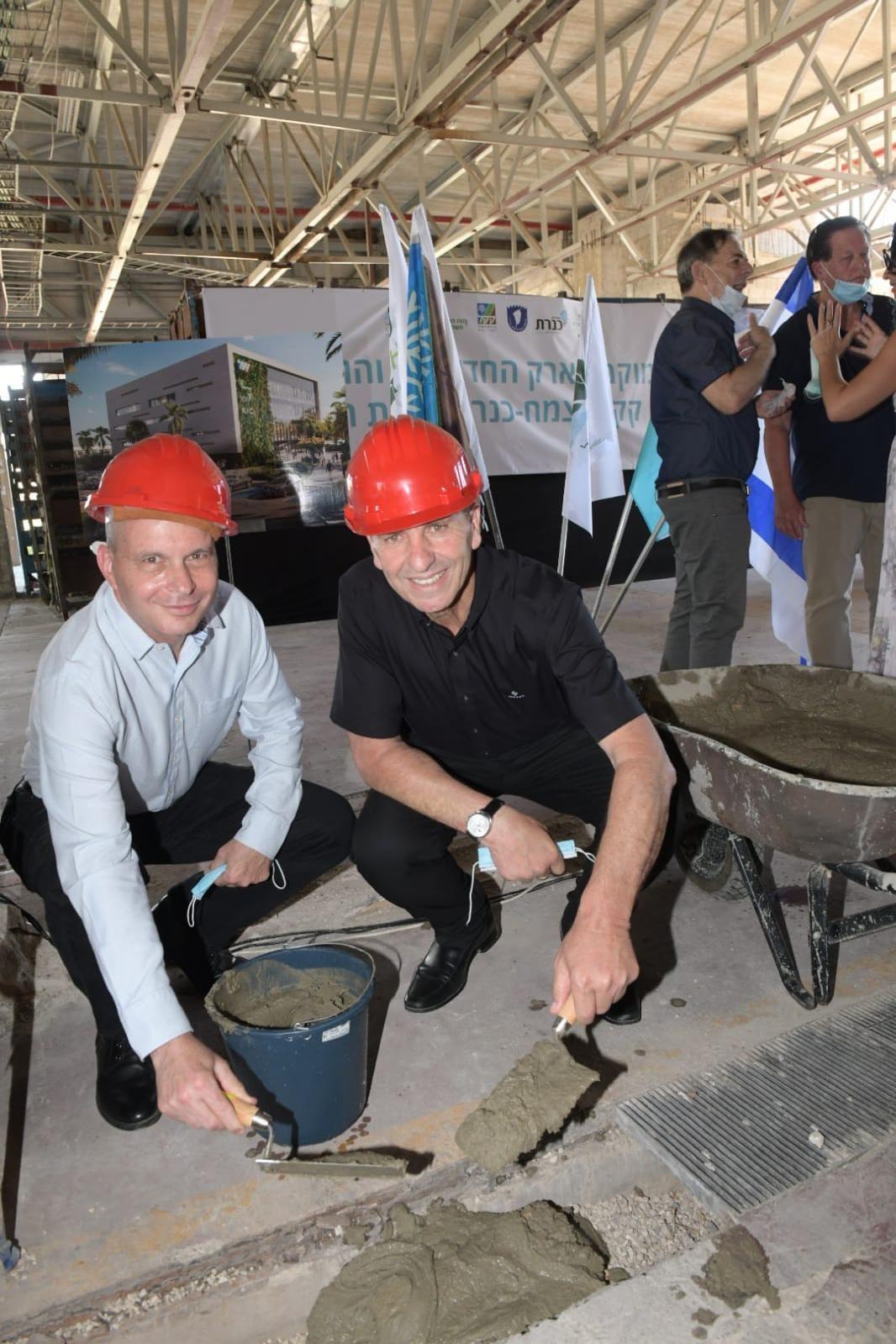 """טקס הנחת אבן פינה """"בית קק""""ל צמח־כנרת"""".  (צילום: ישראל פרץ, מערך ההסברה קק""""ל )"""