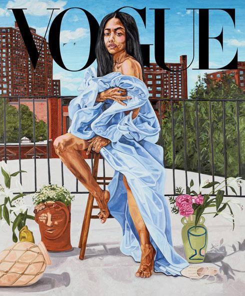 שינוי מגמה. שער גיליון ספטמבר 2020 של ווג אמריקה (איור: Jordan Casteel)