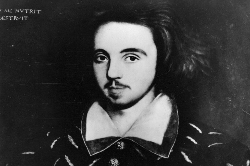 כריסטופר מארלו. התעורר חשד שהוא היה סוכן של המלכה ונרצח בשל פעילותו זו (צילום: Hulton Archive/GettyimagesIL)