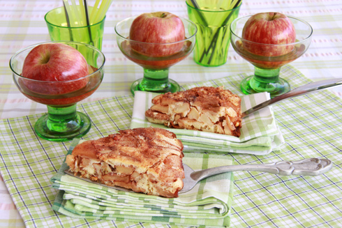 עוגת תפוחים הפוכה (צילום: אסנת לסטר)