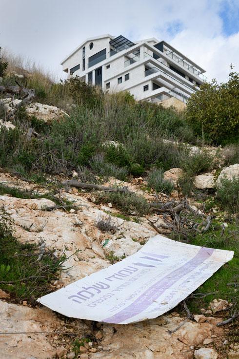 וילה מעל נחל אחוזה בחיפה. הנכס הייחודי של העיר בסכנה (צילום: יונתן בלום)