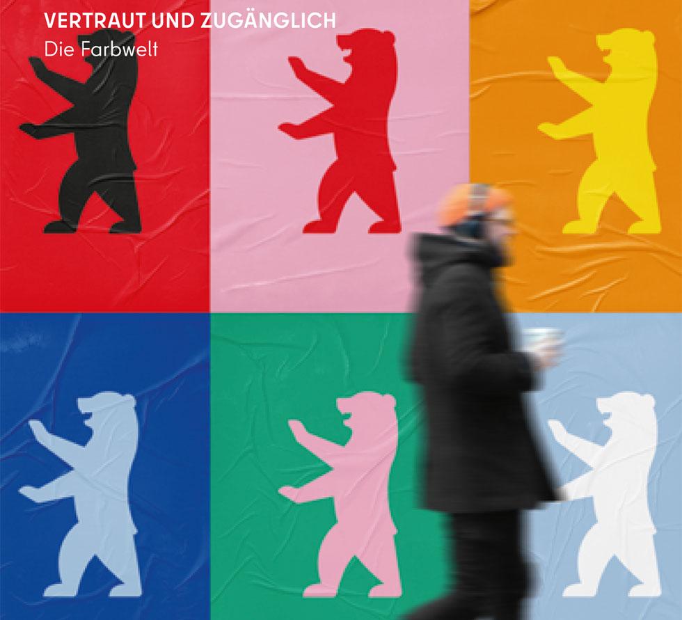 הדב שולט. החיה שמסמלת את ברלין מתבלטת יותר מתמיד בפרסומים הרשמיים של העיר מעכשיו (עיצוב: JUNGvMATT)